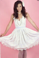 Kitten D Amour Antoinette Apron Dress In Cream Sz 8 Preloved