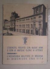 PUBBLICITA' CONCORSO ACCADEMIA MILITARE MODENA ESERCITO MILITARIA ANNI '40
