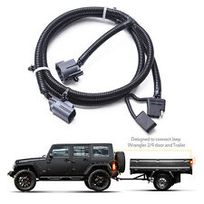 "MICTUNING 65"" Trailer Hitch Wiring Harness Kit  4-Way 07-17 Jeep Wrangler JK 2/4"