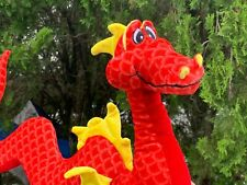 "Rare Beautiful Mythological Red Serpent Dragon 18"" Plush Stuffed Animal Toy"