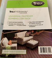 Trex Hideaway Universal Hidden Plastic Fasteners with Screws - Box of 90
