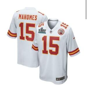 Patrick Mahomes Kansas City Chiefs White Nike SBLIV Patch Game Jersey