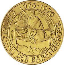 Österreich 1000 Schilling 1976 Babenberger Gold Gedenkmünze in Münzkapsel