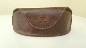 Fossil SunGlasses Eyeglasses Brown Leather Case Great condition