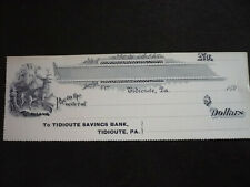 Blank unused Cheque from the Tidioute Savings Bank, Pennsylvania, 1890s