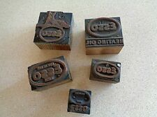 Vintage Letterpress Printing Block ESSO Advertising Gas Oil Rare