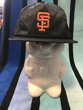 NOS Vtg Nylon San Fransico GIANTS strapback/w/Zipper BASEBALL Cap Hat deadstock