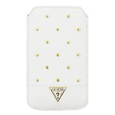 Housse Etui Universel GUESS Tessi Studded Collection Blanc / MOTOROLA Moto G5s