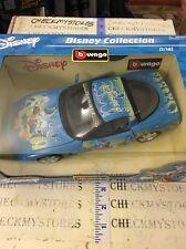 new Bburago Donald Duck Corvette 1/18 Scale Burago Disney Collection Made Italy