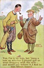 Golf Comic. Yes. I'm a Bit Late..... by F.G.Lewin # 3176 by J.Salmon.