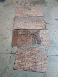 4 sheet Antique Ceiling Tin Vintage Reclaimed Salvage Art Craft pattern vintage