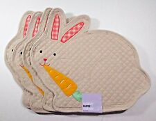 Quilted Easter Bunny Placemats Celebrate Together x4