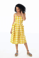 Emily and Fin Layla Sun Dress Yellow Plaid
