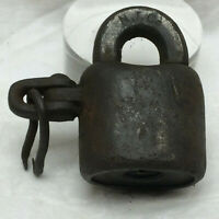Vintage Iron c1880 Lock N.T. Co. Padlock No Key by Romer & Co. Newark, N.J.