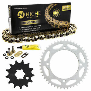 Sprocket Chain Set for Kawasaki KX65 13/46 Tooth 428 X-Ring Front Rear Combo Kit