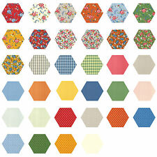 252 Fabric Hexagons diecut from a Moda Layer Cake - Spring-A-Ling American Jane