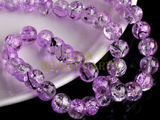 20pcs 10mm Round Crystal Glass Ball Charms Loose Spacer Handmade Beads LT Purple