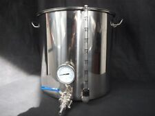 50ltr stainless steel stockpot tap temperature gauge sight glass HLT kettle tank