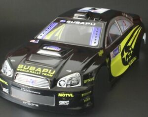 Subaru WRC WRX RC car body shell Black 1/10 Cars - Fast Delivery from UK