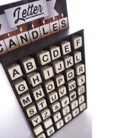 Letter Candles - Unique Alphabet Number Fun Word Message Personal Sign Gift Idea