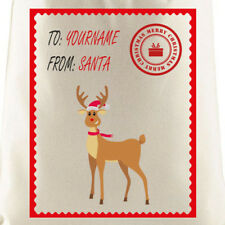 Personalised Reindeer Santa Sack | Christmas, Gift, Personalised, Xmas