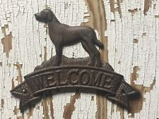 "8"" x 6"" Cast Iron Dog Welcome Wall Plaque Den Kitchen Shop Porch Shop Den  Decor"