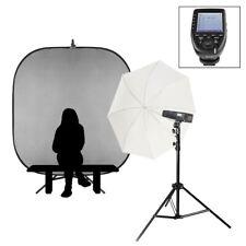 Individual Escuela Portátil Retrato Flash Kit Nikon Batería Potencia Luces 200Ws