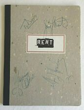 THE CREATION of RENT Musical Souvenir First Broadway Production SIGNED RARITY