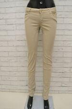 8ee0609a26fa Pantalone Donna SIVIGLIA Taglia 28 Jeans Slim Fit Skinny Woman Elastico  Beige