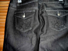 NEW WITH TAGS - WOMENS LANE BRYANT VENEZIA JEANS -BLACK- SIZE 16