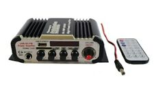 2 Channel Stereo PA Mini Amplifier Bluetooth USB SD Card FM Radio MP3 Audio