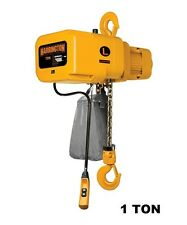 Harrington Ner Electric Chain Hoist 1 Ton Capacity
