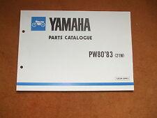 Yamaha PW80 Parts Catalogue des pièces Liste de rechange d'origine neuf