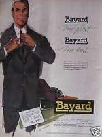 PUBLICITÉ 1958 BAYARD ME PLAIT ME SERT COSTUME MODÉLE 623 - ADVERTISING