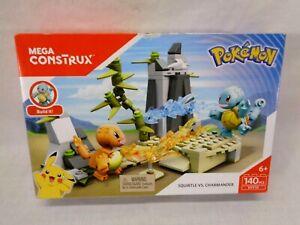 Mega Construx Pokemon Squirtle Vs. Charmander Build Set 140 Pieces New In Box