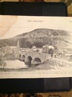H9-1 ephemera picture 1895 The New Bridge At Ballater Just Opened