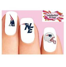 Waterslide Nail Decals Set of 20 - New England Patriots Football Assorted