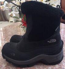 THE NORTH FACE Women Black Gray Waterproof Zip Snow Boots Sz 6 EUC, $150