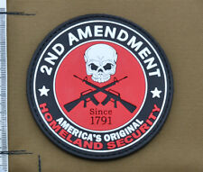 """PVC / Rubber Patch """"2nd Amendment - Homeland Security"""" with VELCRO® brand hook"""