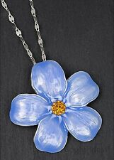 Equilibrium 69156 - FORGET ME NOT FLOWER SILVER PLATED PENDANT NECKLACE - Love