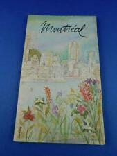 MONTREAL SOUVENIR TOURIST BOOK INFORMATION RESTAURANTS HOTELS MAP BUS ROUTES