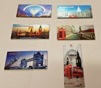 New 6 pcs 3D I Love London England souvenirs fridge magnet set Uk Stock