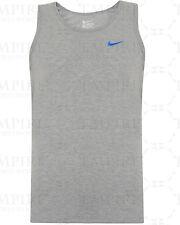 20719383542 Nike Mens Athletic Cut Silver Swoosh Navy Sleeveless Vest Tank Top 823645  451 XL