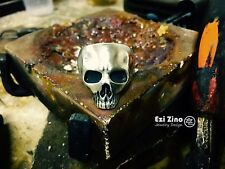 Ezi Zino Handmade Armor Collection Skull Solid Sterling Silver 925 Ring NEW 2015