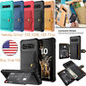 Samsung Galaxy S10 Magnetic Leather Shockproof Wallet Case Card Slots Flip Cover