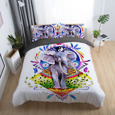 3D Colourful Elephant Bedding Set Duvet Cover Comforter Cover Pillow Case