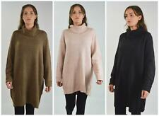 RIVER ISLAND Womens Long Jumper Soft Knit Roll Cowl Neck Size 6-16 RRP £40