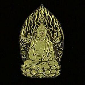 Japanese MAKIE seal Sticker Buddha Buddhism Amida Nyorai 40 x 50mm