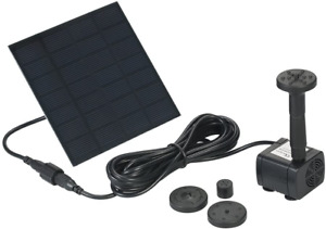 Decdeal Solar Powered Water Pump Solar Pond Pump Upgraded Submersible Fountain