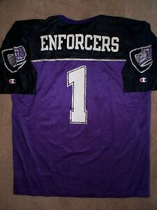XFL/XLF Chicago Enforcers #1 nfl Football Jersey Adult MENS/MEN'S (XL-48)